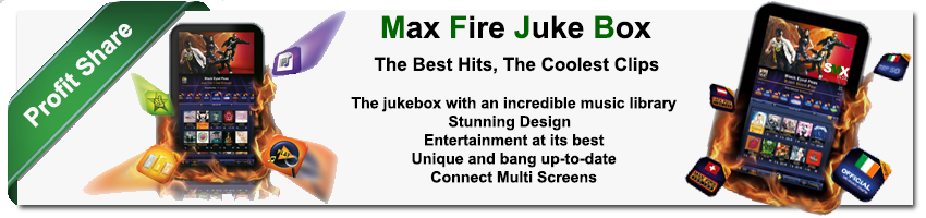 SMX Music Max Fire Touch Screen Audio & Video Juke Box